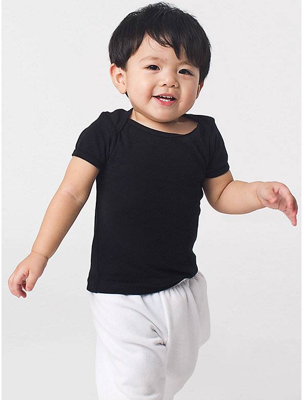 Infant Baby Rib Short Sleeve Lap T
