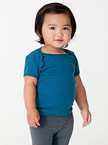 Organic Infant Baby Rib Short Sleeve Lap T