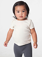Organic Infant Baby Rib Short Sleeve Lap T