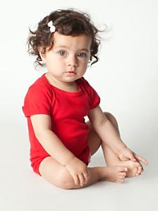 Infant Baby Rib Short Sleeve One-Piece