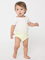 Space Scape Infant Baby Rib Short Sleeve One-Piece