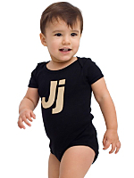 Helvetica Alphabet Infant Baby Rib Short Sleeve One-Piece