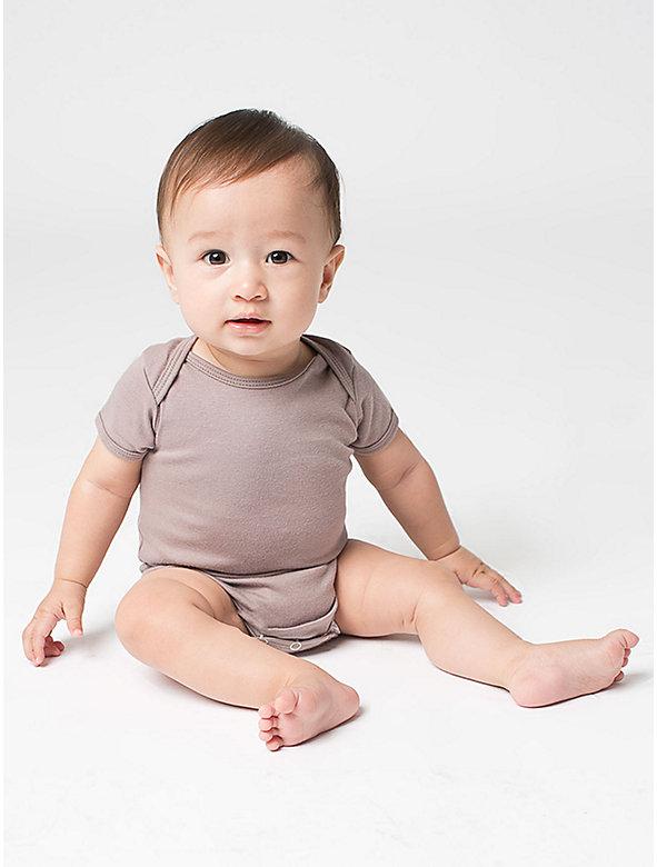 Organic Infant Baby Rib Short Sleeve One-Piece