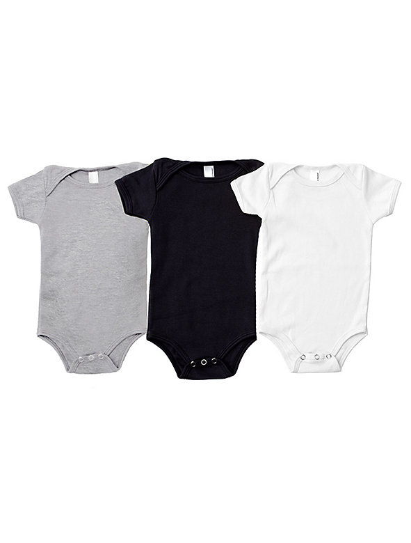 Infant Baby Rib Short Sleeve One-Piece (3-Pack)
