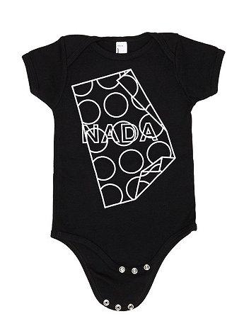 Screen Printed Infant Baby Rib Short Sleeve One-Piece - NADA