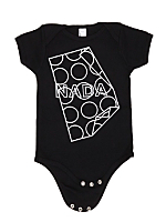 Screen Printed Infant Baby Rib Short Sleeve One-Piece - NADA