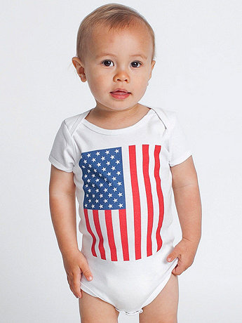 Screen Printed Infant Baby Rib Short Sleeve One-Piece