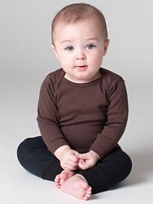 Infant Baby Rib Long Sleeve Lap T-Shirt