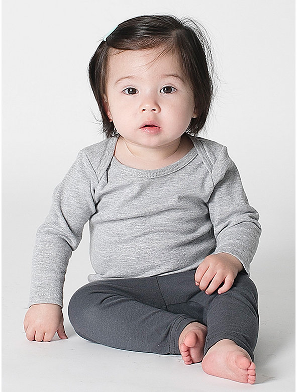 Infant Baby Rib Long Sleeve Lap T-Shirt