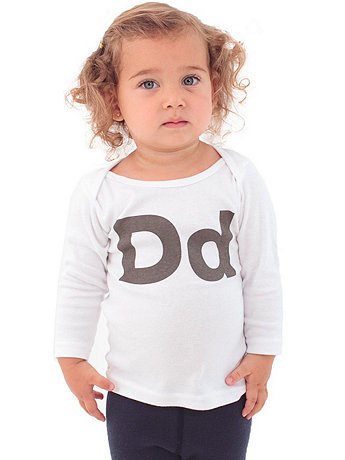 Helvetica Alphabet Infant Long Sleeve Lap T-Shirt