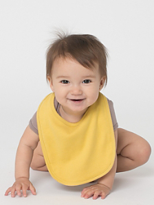 Organic Infant Baby Rib Reversible Bib