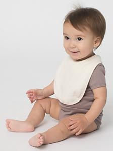 Organic Infant Baby Rib Reversible Bib