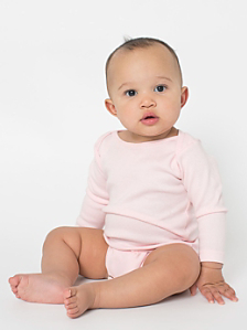 Infant Baby Rib Long Sleeve One-Piece