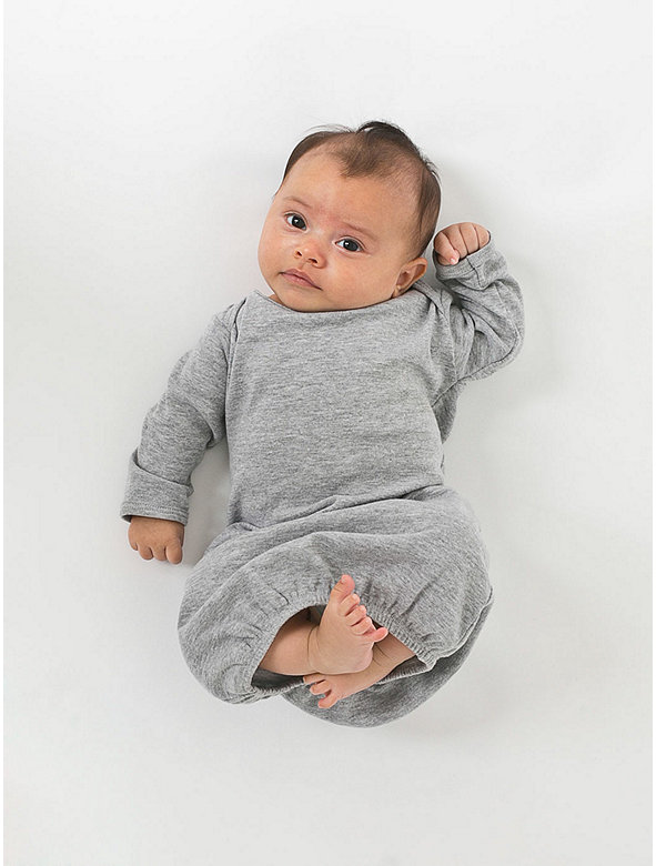 Infant Baby Rib Long Sleeve Gown