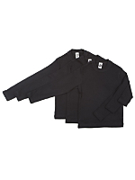 Kids Baby Rib Long Sleeve T-Shirt (3-Pack)