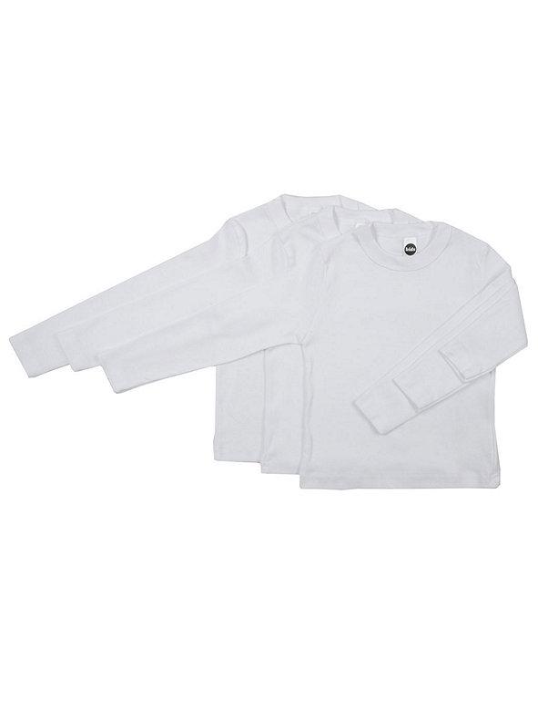 Kids' Baby Rib Long Sleeve T-Shirt (3-Pack)