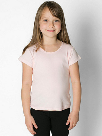 Kids Baby Rib Cap Sleeve T-Shirt