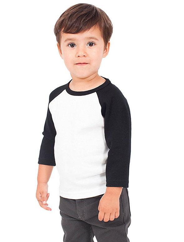 Kids' Baby Rib 3/4 Sleeve Raglan