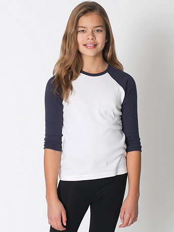 Youth Baby Rib 3/4 Sleeve Raglan