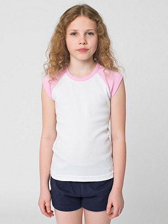 Youth Baby Rib Cap Sleeve Raglan