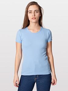 Baby Rib Basic Short Sleeve T-Shirt
