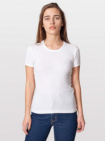 Baby Rib Basic Short Sleeve T-Shirt
