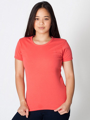 Organic Baby Rib Basic Short Sleeve T-Shirt