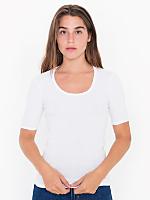 Baby Rib 1/2 Sleeve U-Neck T
