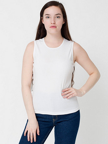 Baby Rib Sleeveless Crew Neck