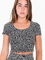 Nathalie Du Pasquier Black Winie Print Baby Rib Crop T-Shirt