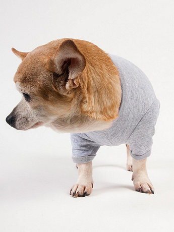 Heather Grey Baby Rib Dog T