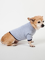 Heather Grey & Navy Baby Rib Dog T
