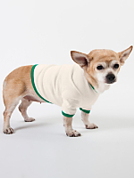 Organic Natural & Kelly Green Baby Rib Dog T