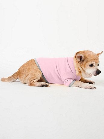 Pink & Silver Baby Rib Dog T