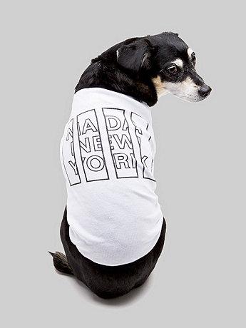Screen Printed Baby Rib Dog T - NADA New York