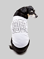 Screen Printed Baby Rib Dog T - NADA New York