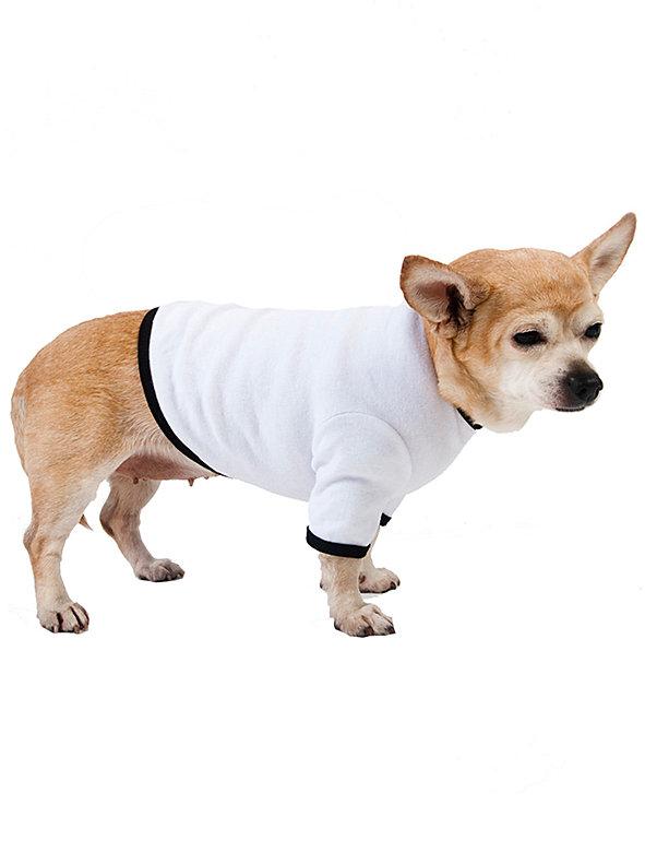 White & Black Baby Rib Dog T