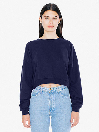 California Fleece Cropped Sweatshirt