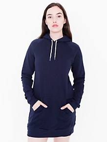 California Fleece Pullover Raglan Hoodie Dress