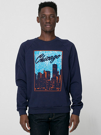 Chicago Screen Printed California Fleece Raglan