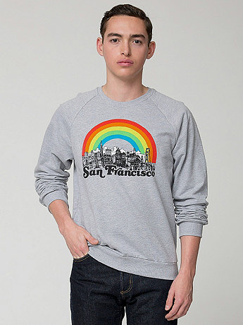 San Francisco Screen Printed California Fleece Raglan