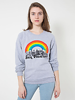 Unisex San Francisco Screen Printed California Fleece Raglan