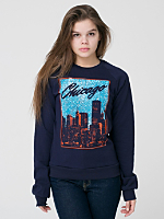 Unisex Chicago Screen Printed California Fleece Raglan