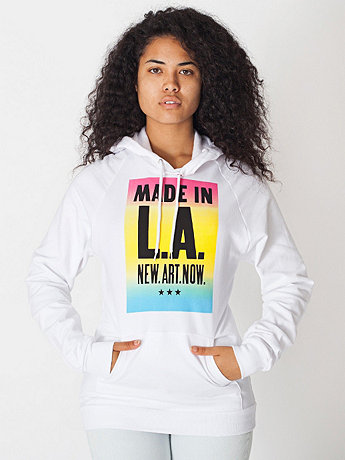 Unisex Made in LA Screen Printed California Fleece Pullover Hoodie