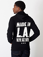 Made in LA Screen Printed California Fleece Zip Hoodie