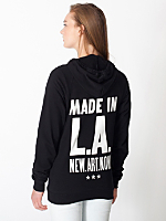 Unisex Made in LA Screen Printed<br>California Fleece Zip Hoodie