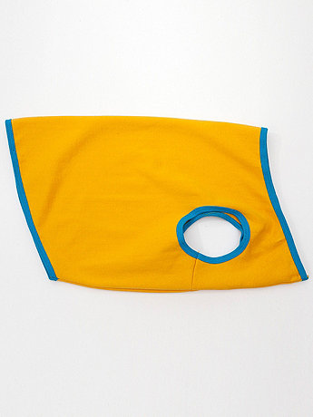 Gold & Teal California Fleece Dog Vest