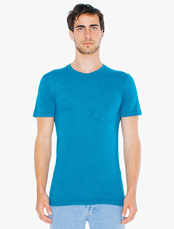 Tri-Blend Crewneck Pocket T-Shirt