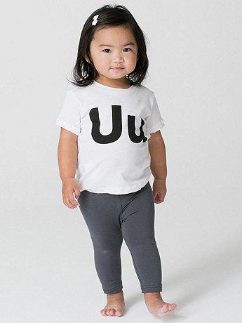 Helvetica Alphabet Infant Sheer Jersey Short Sleeve T-Shirt