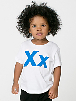 Helvetica Alphabet Infant Sheer Jersey Short Sleeve T-Shirt